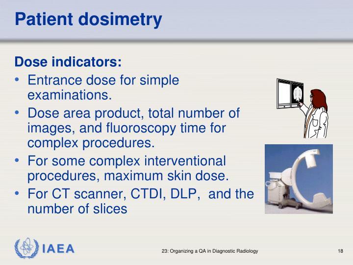 Patient dosimetry