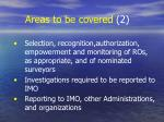 areas to be covered 2