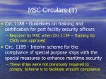 msc circulars 1