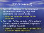 msc circulars 2