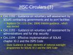 msc circulars 3
