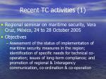 recent tc activities 1