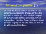 technical co operation 1