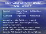 wider caribbean region special area annex v