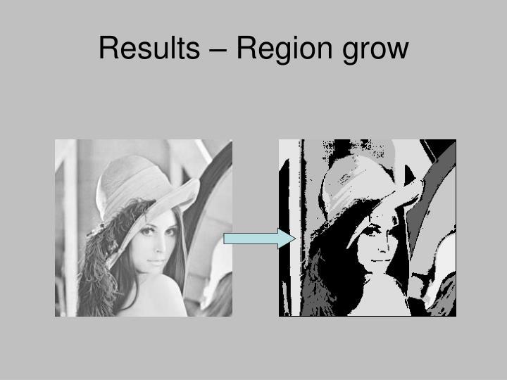Results – Region grow