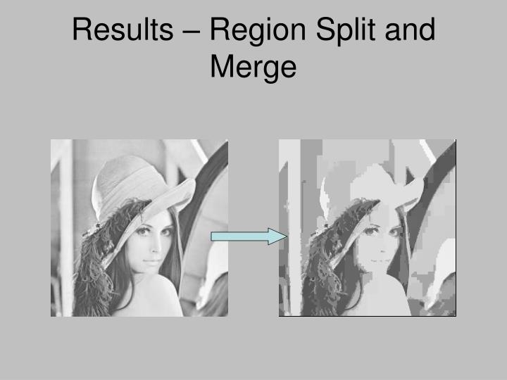 Results – Region Split and Merge