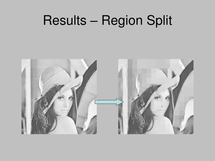 Results – Region Split