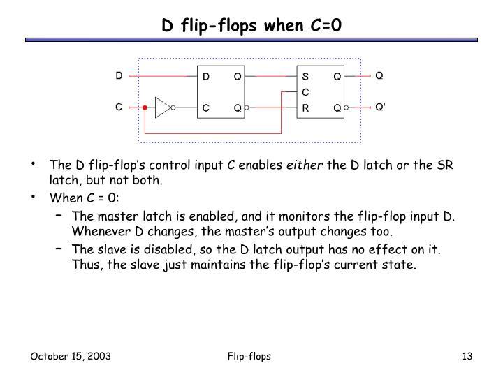 D flip-flops when C=0