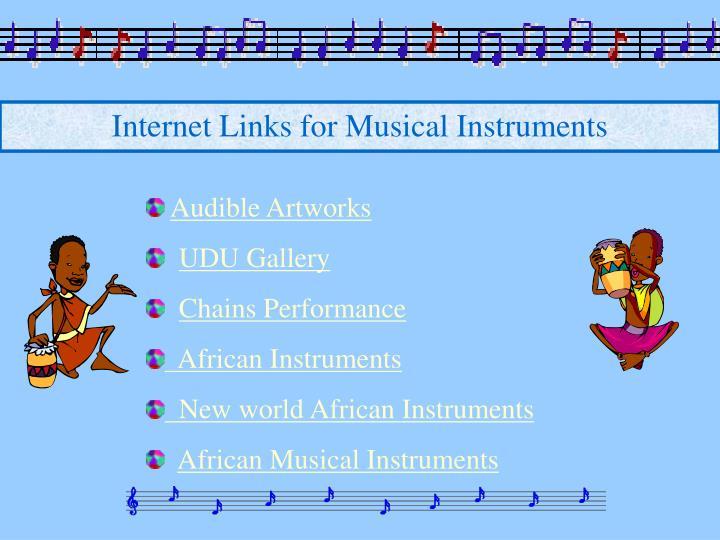 Internet Links for Musical Instruments