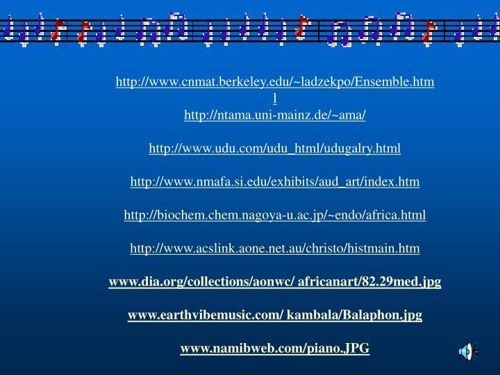 http://www.cnmat.berkeley.edu/~ladzekpo/Ensemble.htm