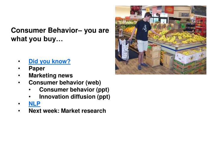 consumer traits behavior paper Read this essay on consumer traits and behavior come browse our large digital warehouse of free sample essays get the knowledge you need in order to pass your.