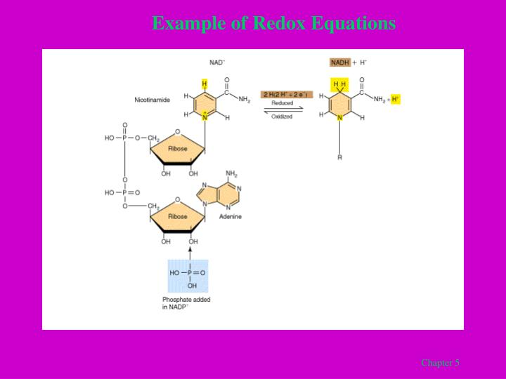Example of Redox Equations