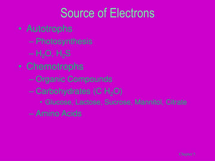 Source of Electrons