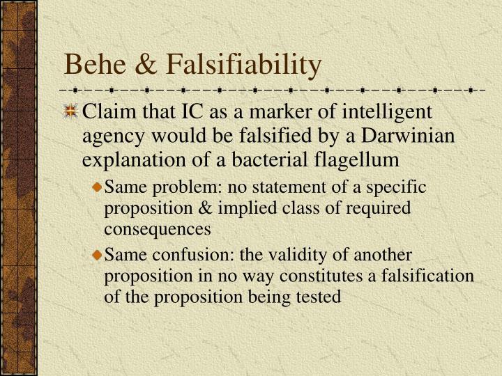 Behe & Falsifiability