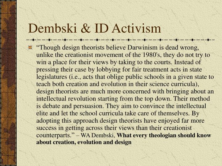 Dembski & ID Activism