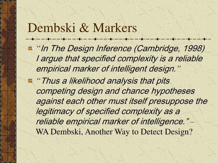Dembski & Markers