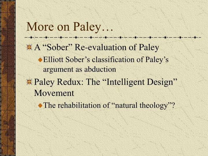 More on Paley…