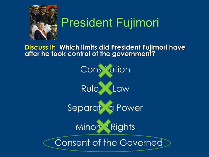 President Fujimori
