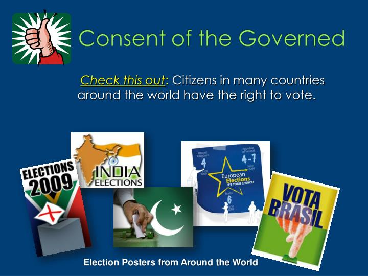 Citizens in many countries around the world have the right to vote.