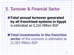 5 turnover financial sector