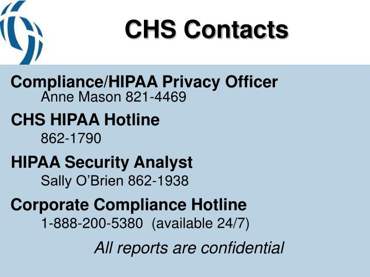 CHS Contacts