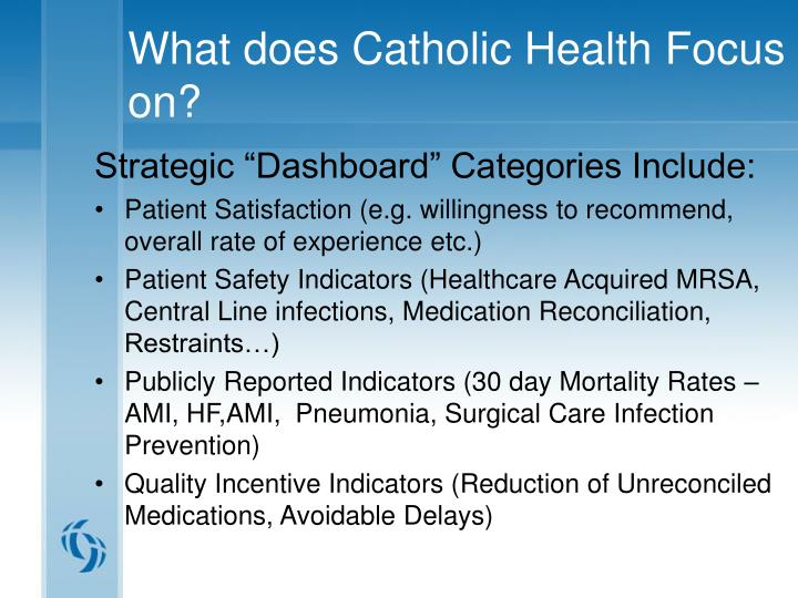 What does Catholic Health Focus on?