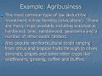 example agribusiness