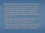 managed funds and tax efficiency
