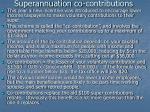 superannuation co contributions