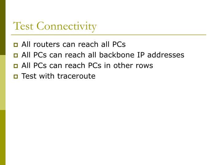 Test Connectivity