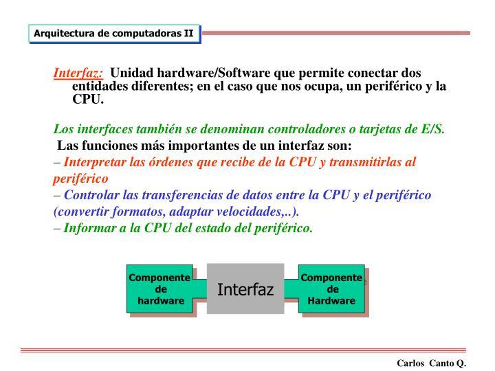 Interfaz: