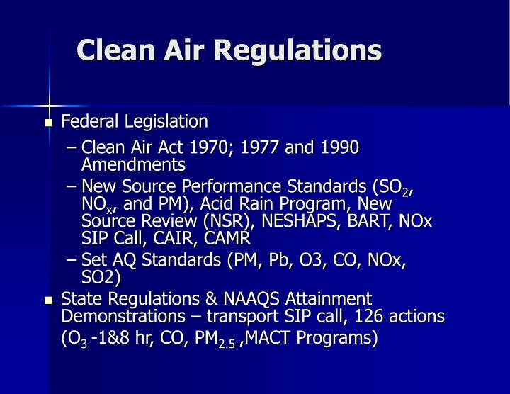 Clean Air Regulations