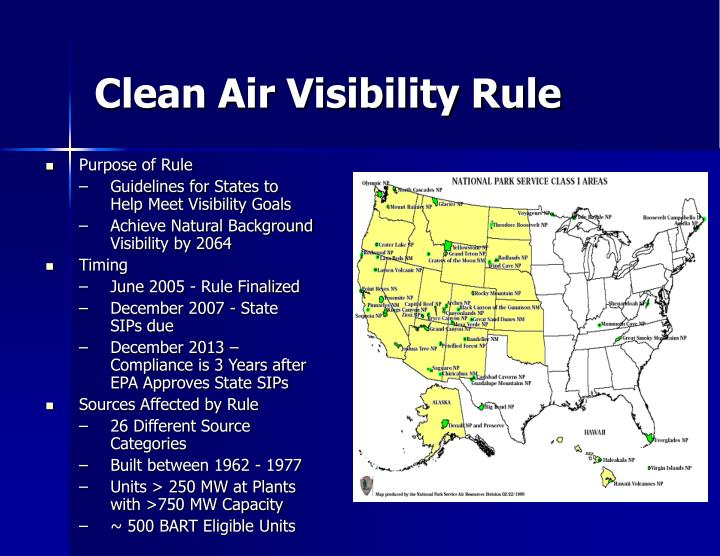 Clean Air Visibility Rule