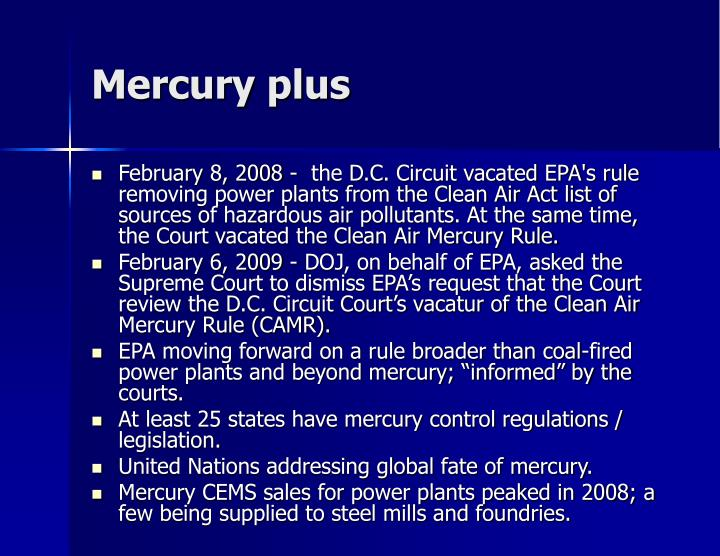 Mercury plus