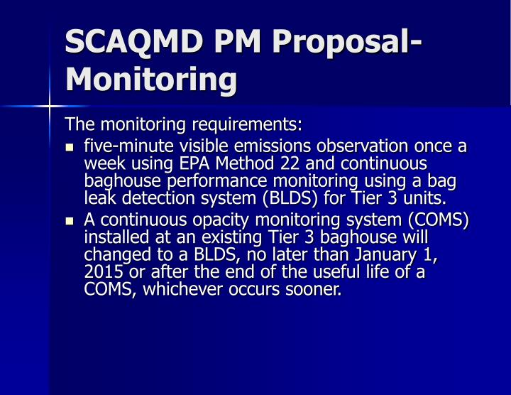SCAQMD PM Proposal-Monitoring