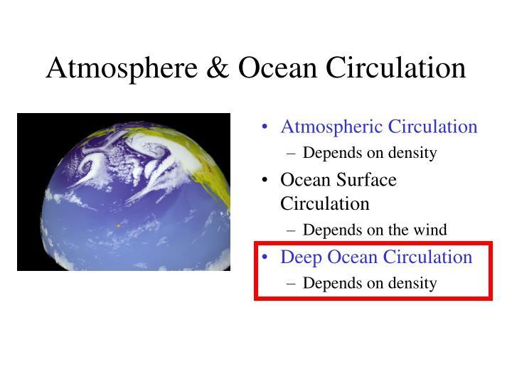 Atmosphere & Ocean Circulation