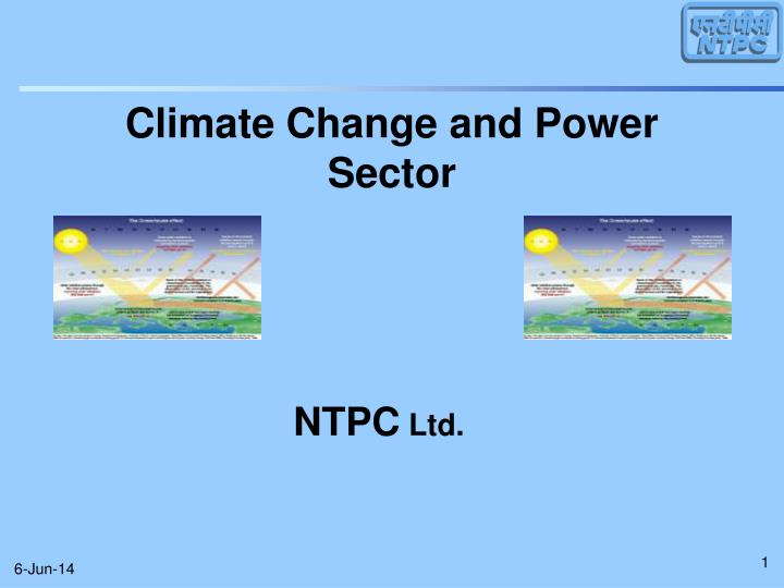Climate change and power sector