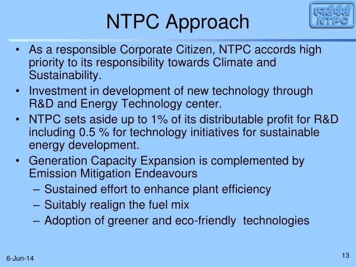 NTPC Approach
