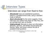 interview types