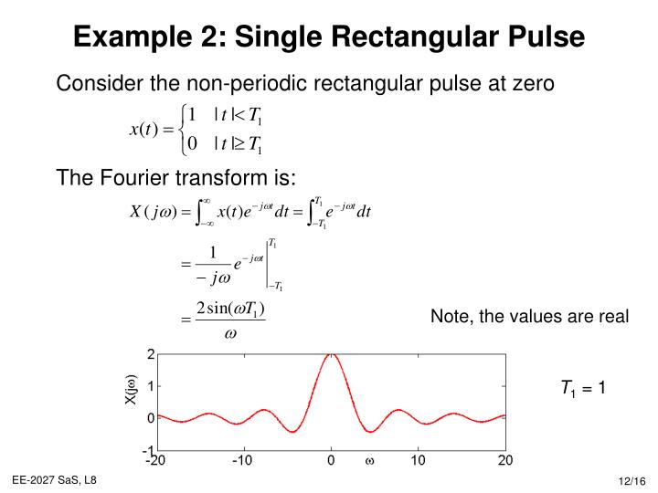 fourier series and fourier transform examples pdf