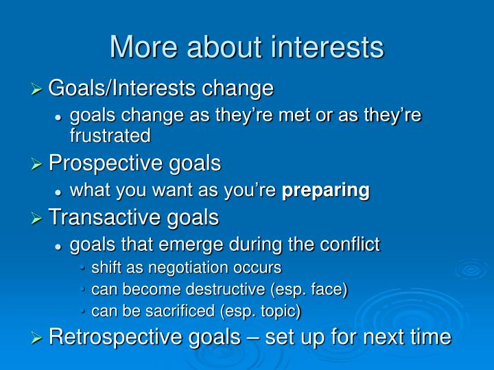 More about interests
