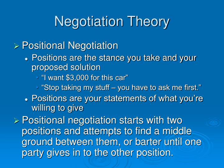 Negotiation Theory