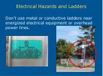 electrical hazards and ladders