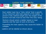 ladder load capacity