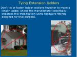 tying extension ladders