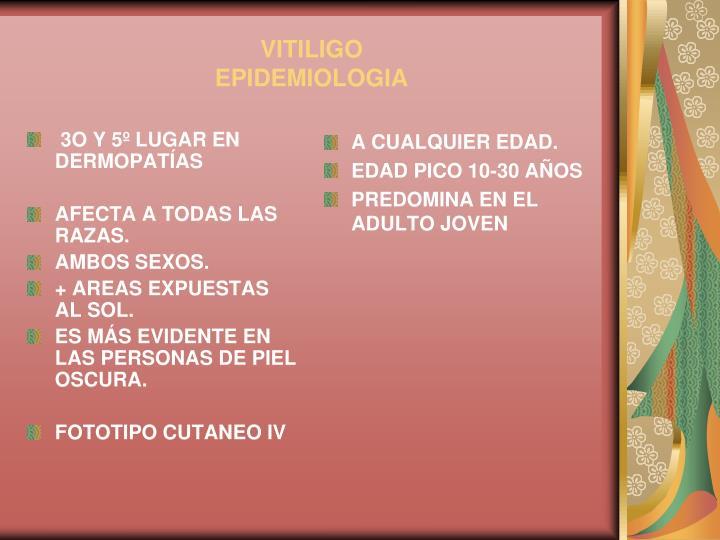 Vitiligo epidemiologia