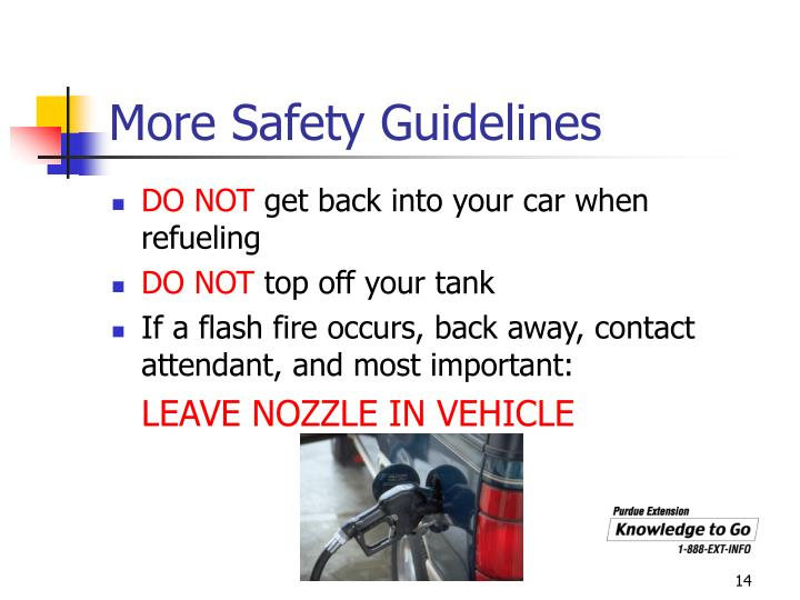 More Safety Guidelines