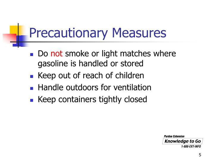 Precautionary Measures