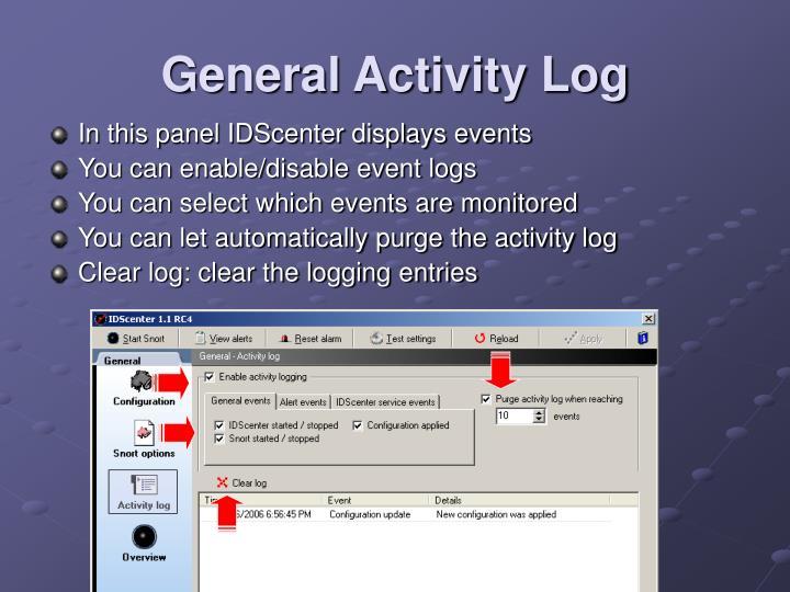 General Activity Log