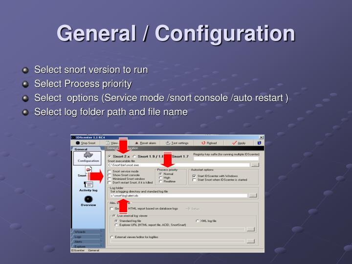 General / Configuration